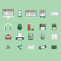 A collection of technological items