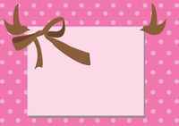 A gift card with ribbon