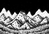 Abstract mountain sketch