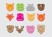 Animal faces icon