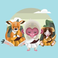 Animals in monk avatar