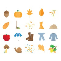 Autumn season items