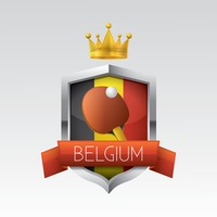 Belgium flag with racket and ball