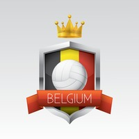 Belgium flag with volleyball