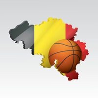 Belgium map with basketball