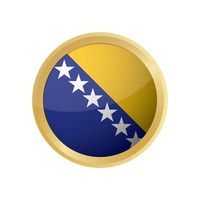 Bosnia and herzegovina flag button