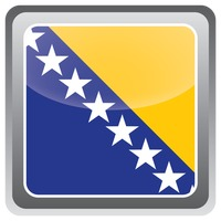 Bosnia and herzegovina flag frame
