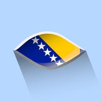 Bosnia and herzegovina flag in the shape of an eye