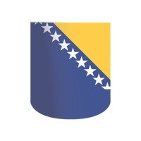 Bosnia and herzegovina flag pennant