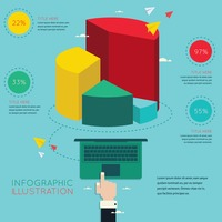 Business presentation infographic
