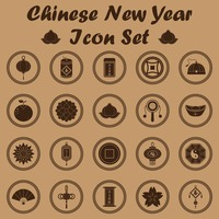 Chinese new year icon set