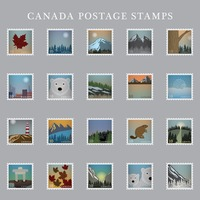 Collection of canada postage stamps