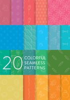 Collection of colorful seamless patterns
