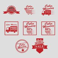 Collection of cyber monday sale designs