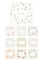 Collection of floral labels
