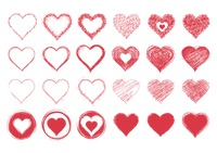 Collection of heart designs