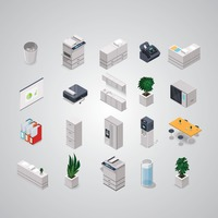 Collection of isometric objects
