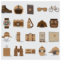 热门 : Collection of travel icons