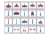 Collection of usa state monuments