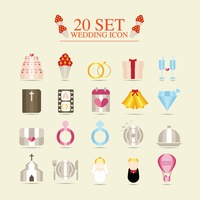 Collection of wedding related objects