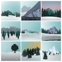 Collection of winter landscapes