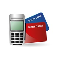 Credit card reader and banking cards