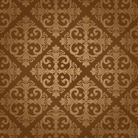 Damask vintage brown patter
