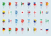 Different countries flags