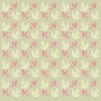 Dove and hearts background
