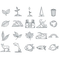 Ecology and nature icons collection