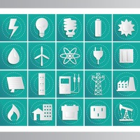 Energy related icon set