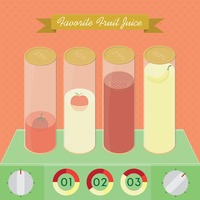 Favourite fruit juice infographic
