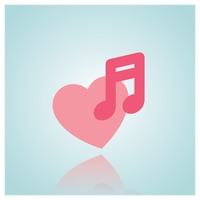 Heart and music note