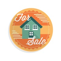 House for sale label
