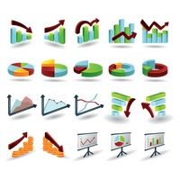 Infographic elements of statistical graphs