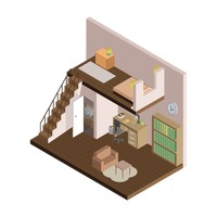 Isometric home interior