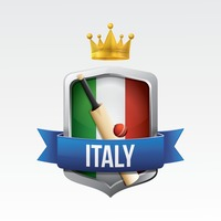 Italy flag with bat and ball