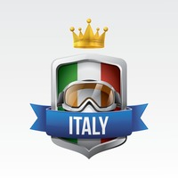 Italy flag with motorcycle goggles