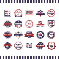 Made in usa labels collection