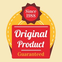 Original product guaranteed label