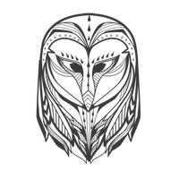 Owl monochrome design