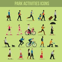 Park activities icons
