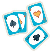 Poker cards or playing cards