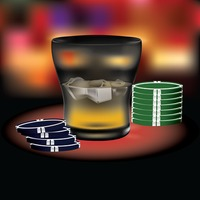 Poker chips with a glass