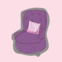 Recliner on pink background