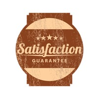 Satisfaction guarantee product label design