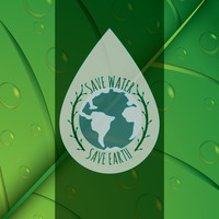 Save water and save earth concept