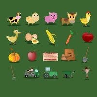 Set of agricultural icons