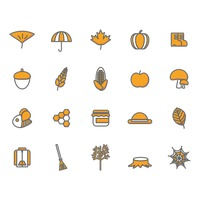 Set of autumn icons