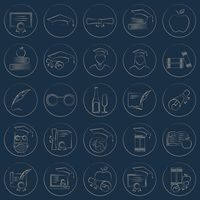 Set of educational icons